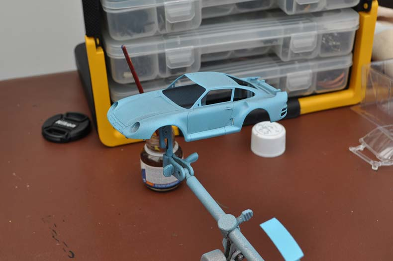 Scaleauto Porsche 959 Kit Body Painting