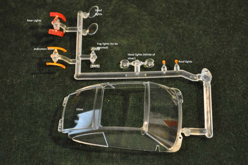 Scaleauto Porsche 959 Kit Clear Parts