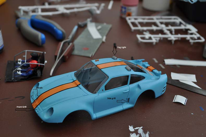 Scaleauto Porsche 959 Kit Decals Applied