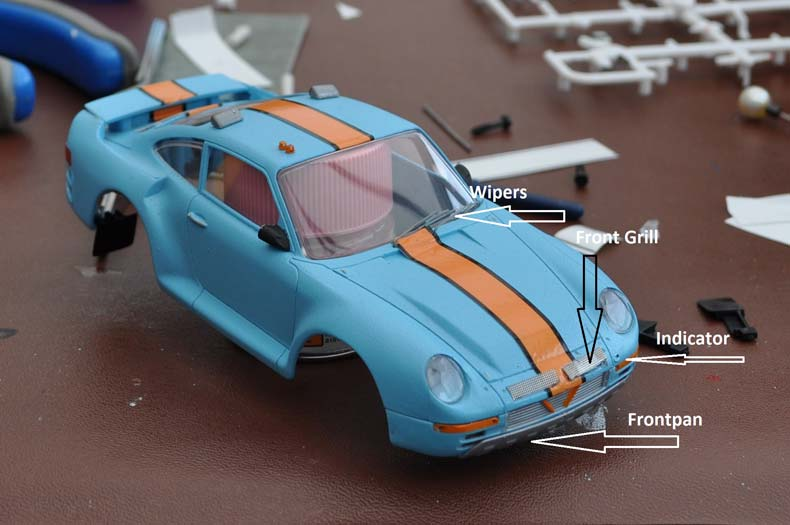 Scaleauto Porsche 959 Kit Parts Applied
