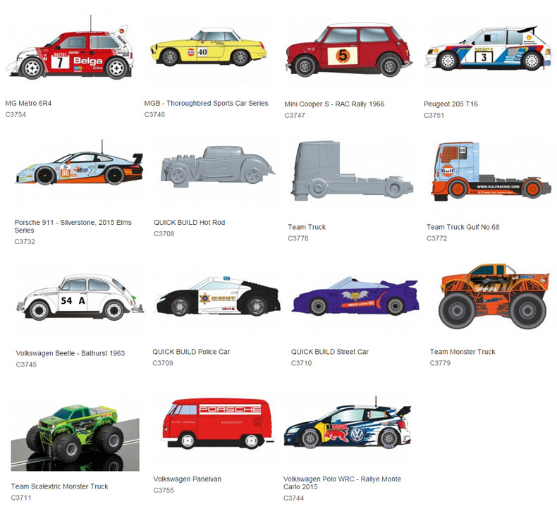Scalextric Cars 2016