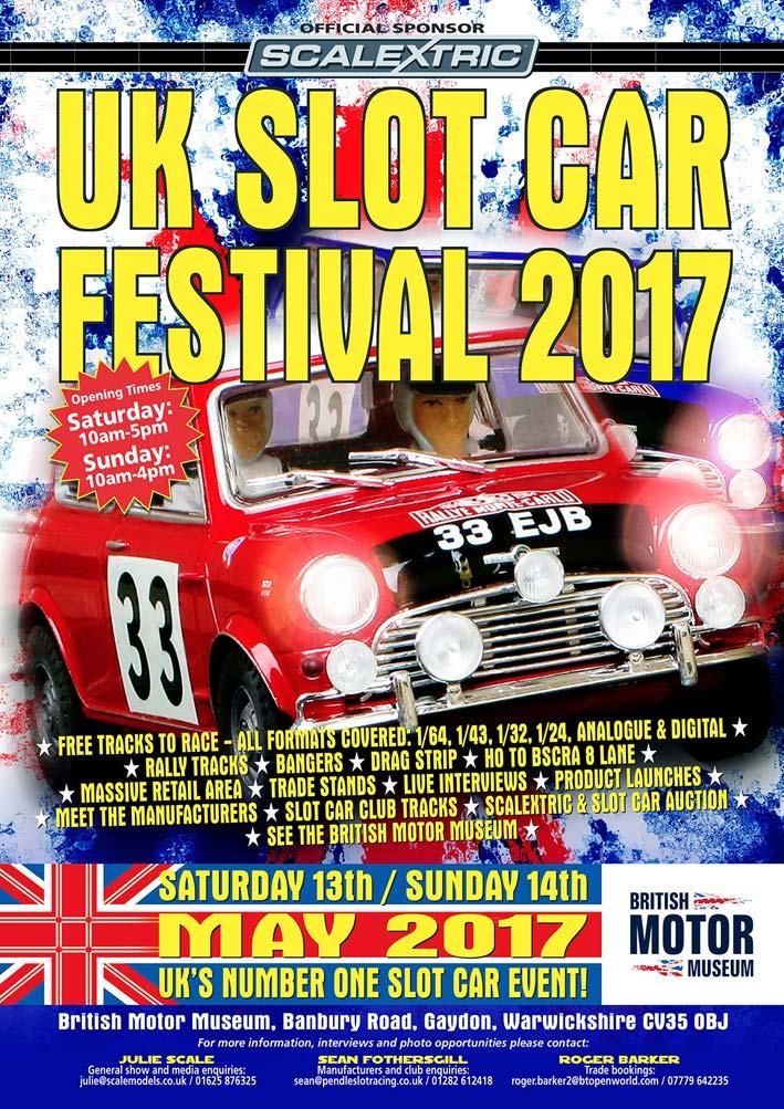 Uk Slot Car Festival 2017 Poster