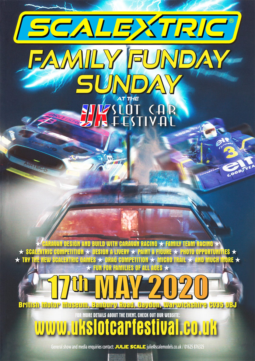 UK Slot Car Festival 2020 FamilPoster