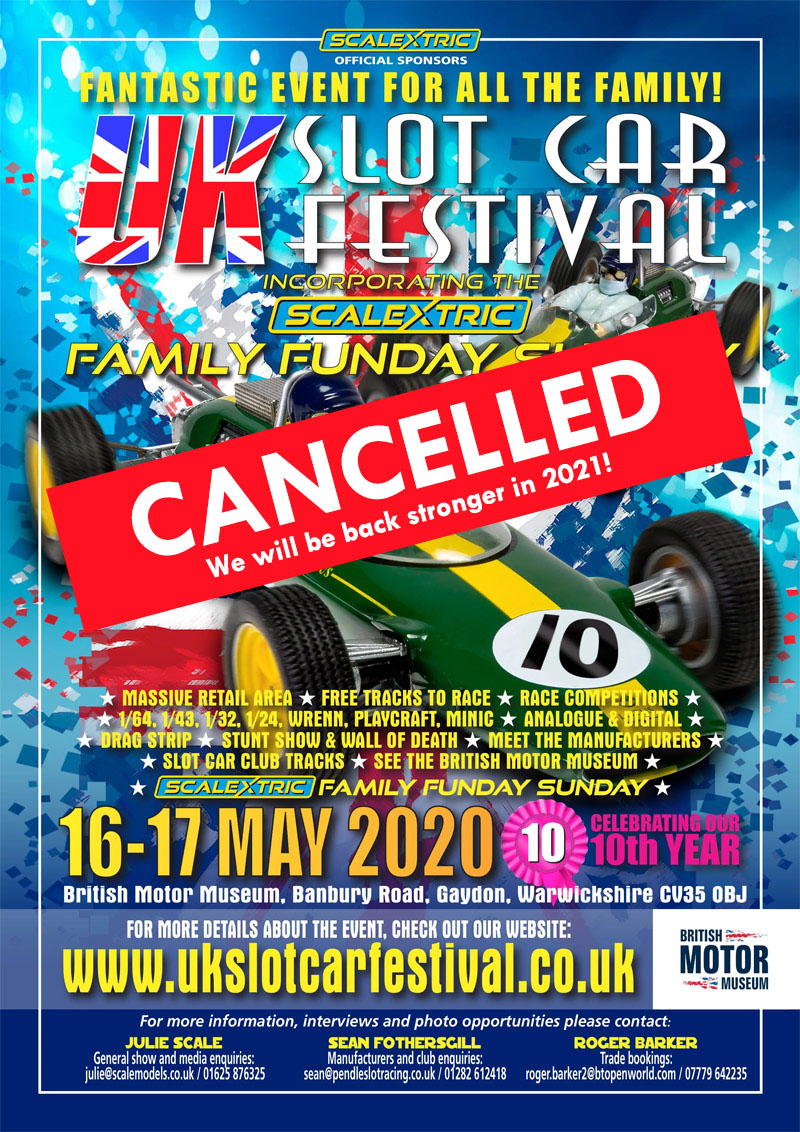 UK Slot Car Festival 2020 Poster