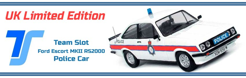 Team Slot Ford Escort MKII RS2000 Police Car
